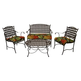 Blazing Needles All-Weather UV-Resistant Settee Group Outdoor Cushions (Set of 3)