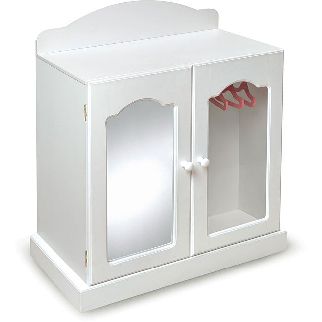 Badger Basket Mirrored Doll Armoire Set