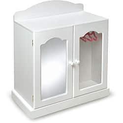 Badger Basket Mirrored Doll Armoire Set|https://ak1.ostkcdn.com/images/products/5969182/Badger-Basket-Mirrored-Doll-Armoire-Set-P13662736.jpg?impolicy=medium