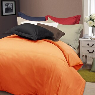 Solid Color Soft Microfiber 3-piece Duvet Cover Set