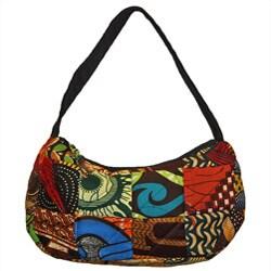 Cotton Small Original Patchwork Hobo Bag Kenya Free