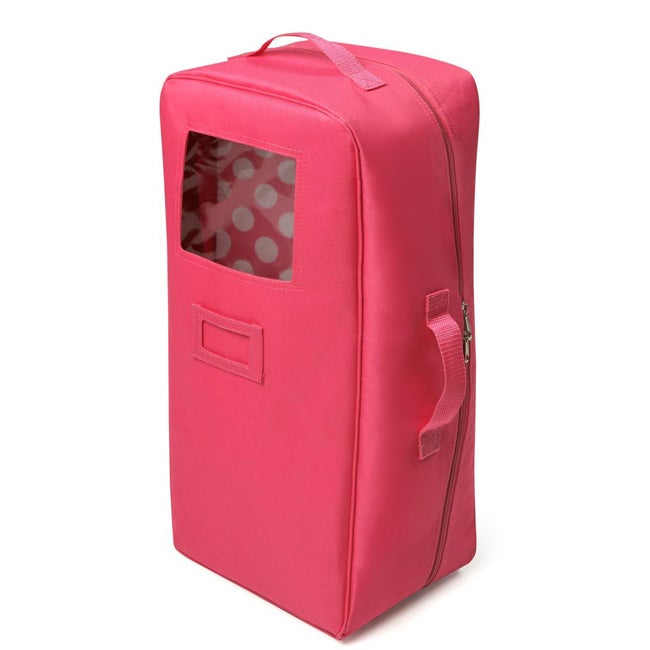 Badger Basket Dark Pink Doll Travel Case - Thumbnail 0