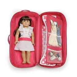 Badger Basket Dark Pink Doll Travel Case - Thumbnail 1