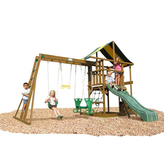 Andover Top Ladder with Rope Accessories Swing Set