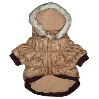Pet Life Thinsulate Metallic Pet Parka w/ Removable Hood