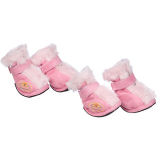 Pet Life Protective Comfortable Faux Fur Thinsulate Boots (Set of 4) (2 options available)
