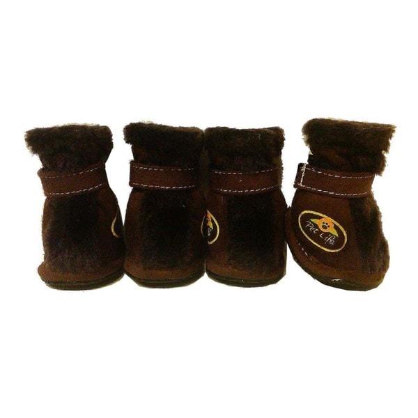 Pet Life Comfort Protective Faux Fur Boots (Set of 4)
