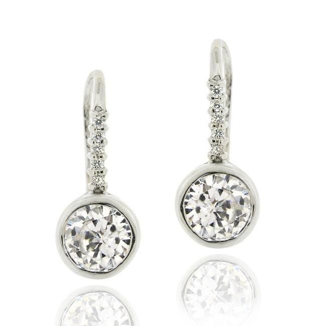Icz Stonez Sterling Silver Cubic Zirconia Dangle Earrings