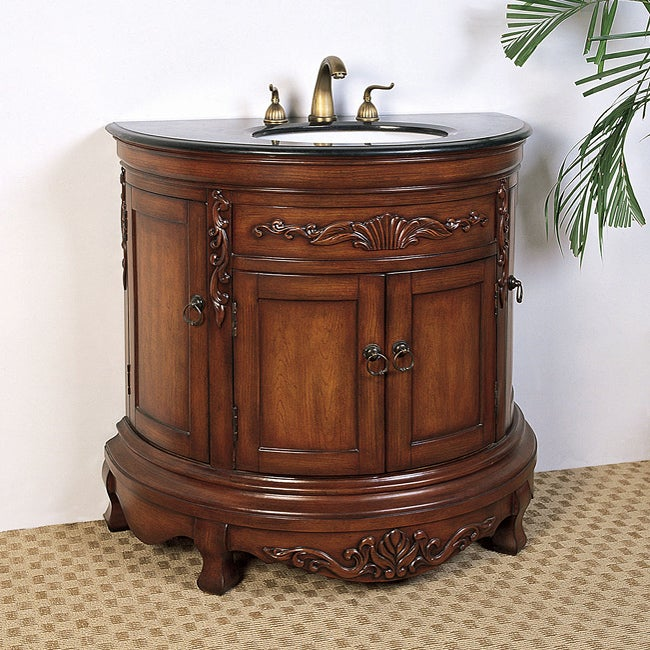 Granite Top 36 Inch Single Sink Vanity