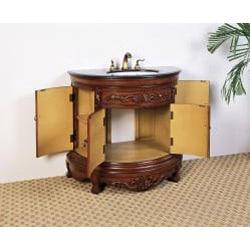 Granite Top 36-inch Single Sink Vanity - Thumbnail 1