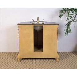 Granite Top 36-inch Single Sink Vanity - Thumbnail 2
