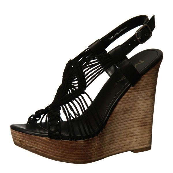 Macrame' Cotton Straw Wedge Sandal