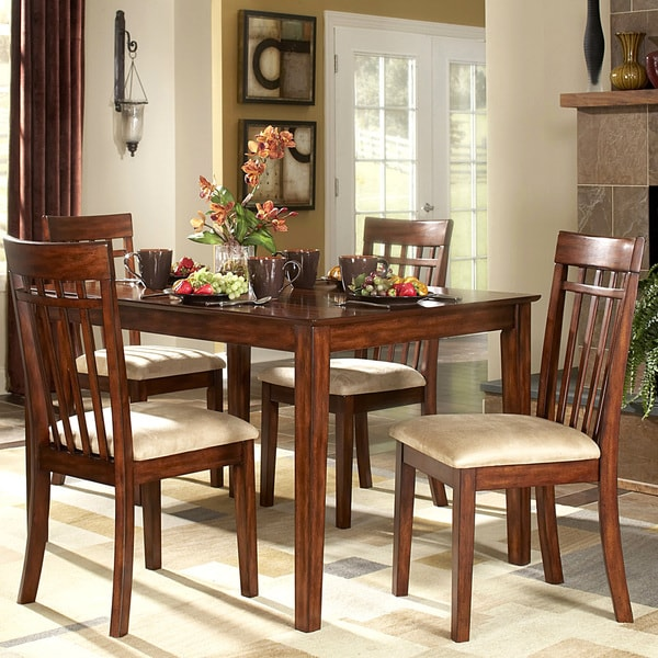Shop TRIBECCA HOME Daphne Burnished Cherry 5-piece Mission