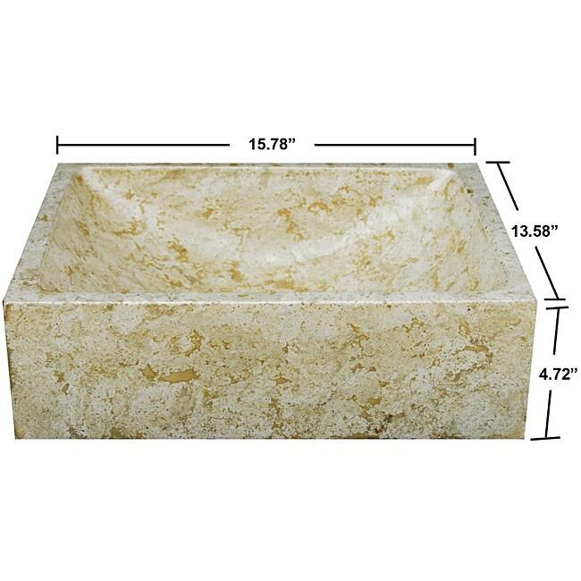 Concrete Marble Half Moon Sink