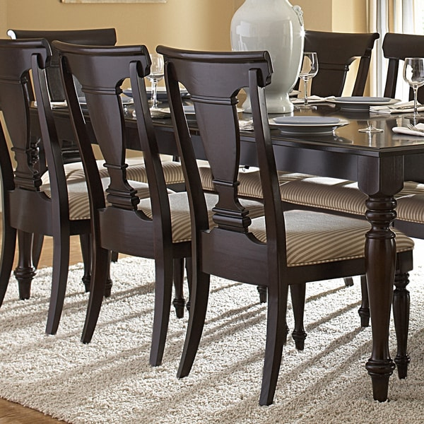 TRIBECCA HOME Clara Elegance Cherry Dining Chair (Set of 2)