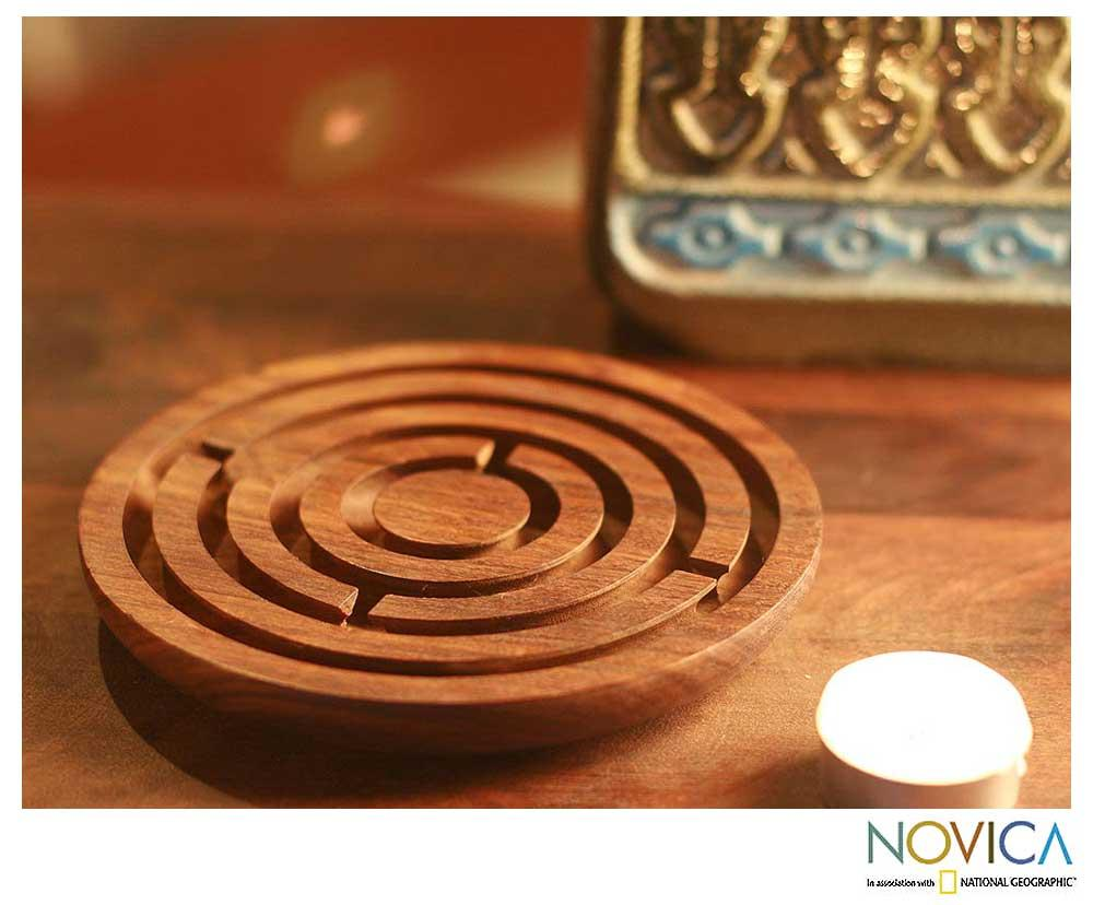 Wood 'Labyrinth Intrigue' Game (India)