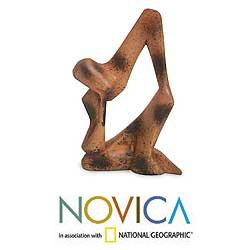 Wood 'I Am Thinking' Sculpture (Ghana)