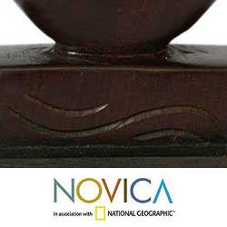 Ebony Wood 'Father and Son' Sculpture (Ghana) - Thumbnail 2