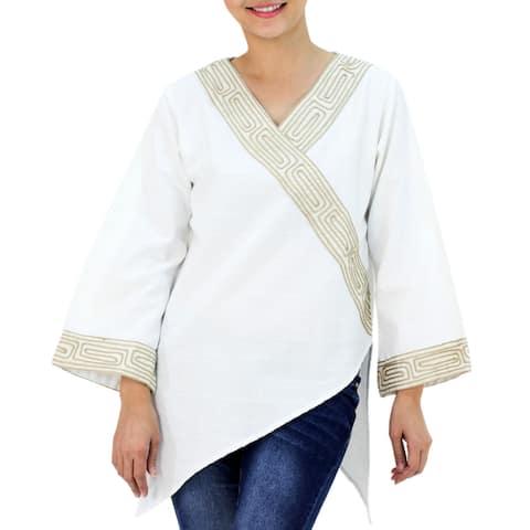 Handmade China Paths Cotton Blouse (Thailand)