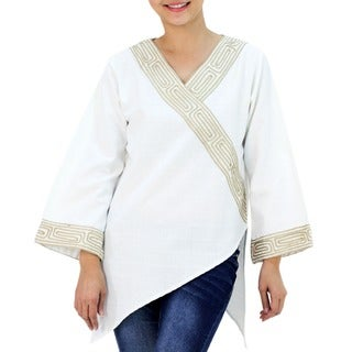 Handmade Cotton 'China Paths' Blouse (Thailand)