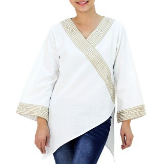 Handmade Cotton 'China Paths' Blouse (Thailand)