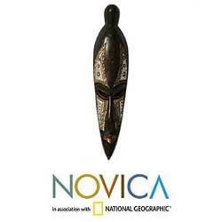 Wood 'Divine Ruler' Mask (Ghana)