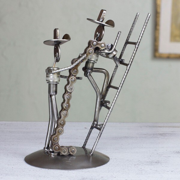 Aluminum Ermaksan Working Mexico: Shop Handmade Auto Parts 'Firefighters At Work' Sculpture