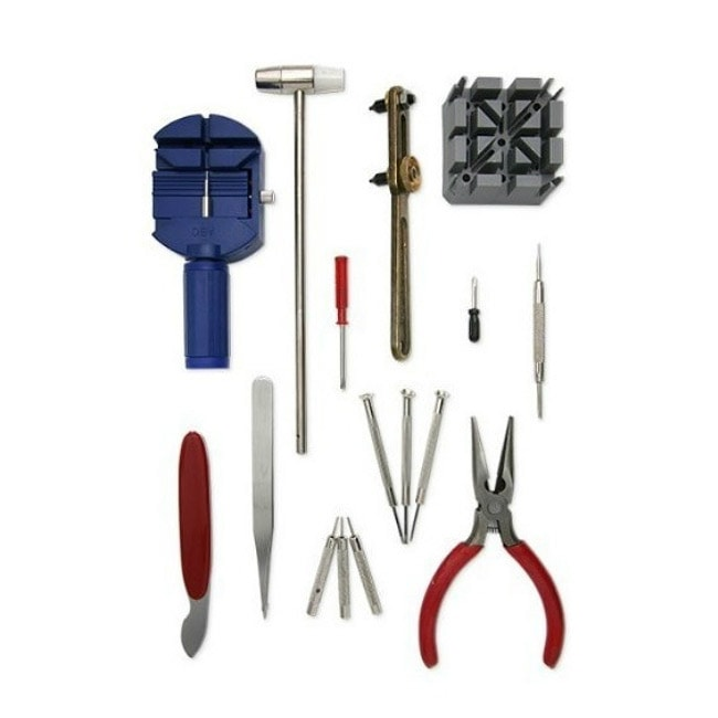 Deluxe 16-piece Watch Repair Tool Kit - Thumbnail 0