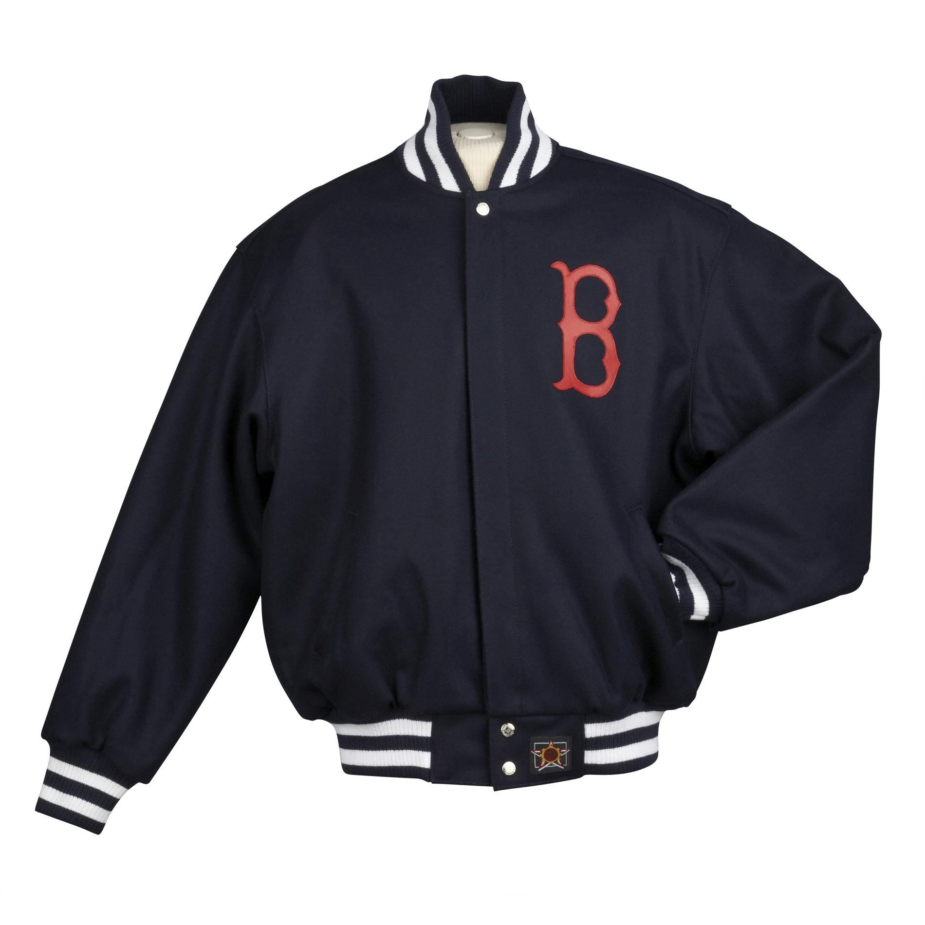 jh designs men's boston red sox domestic wool jacket - free