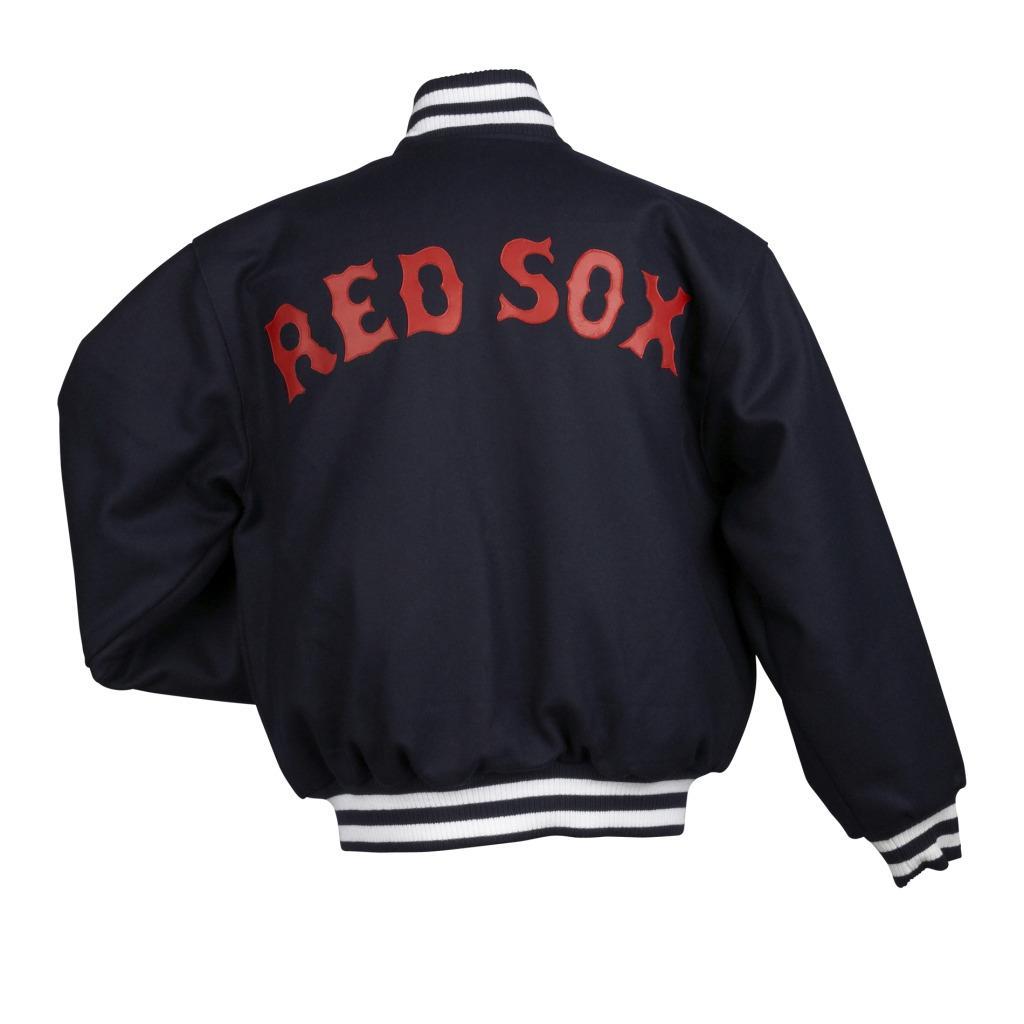 JH Designs Men's Boston Red Sox Domestic Wool Jacket - Thumbnail 1