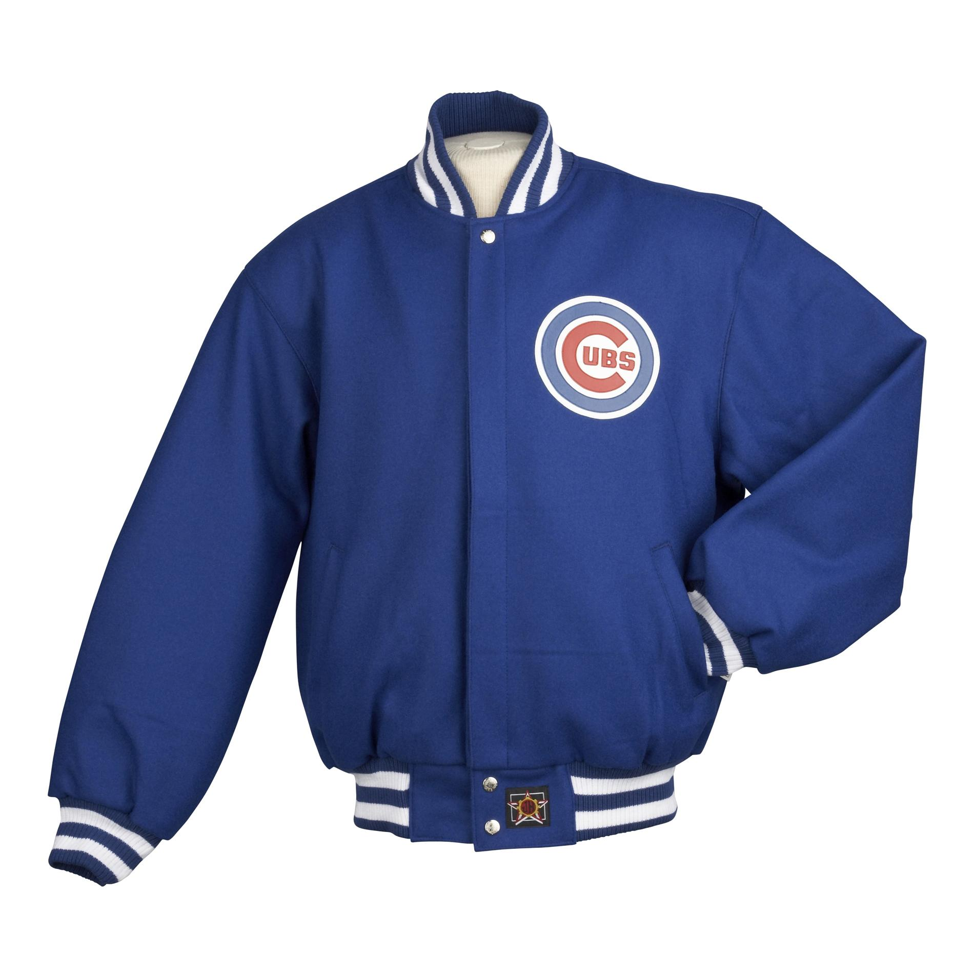 JH Designs Men's Chicago Cubs Domestic Wool Jacket