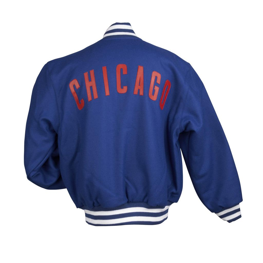 JH Designs Men's Chicago Cubs Domestic Wool Jacket - Thumbnail 1