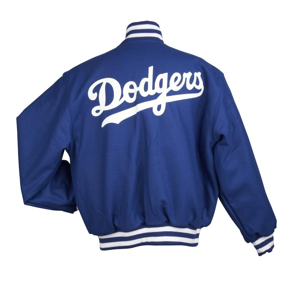 JH Designs Men's Los Angeles Dodgers Domestic Wool Jacket - Thumbnail 1