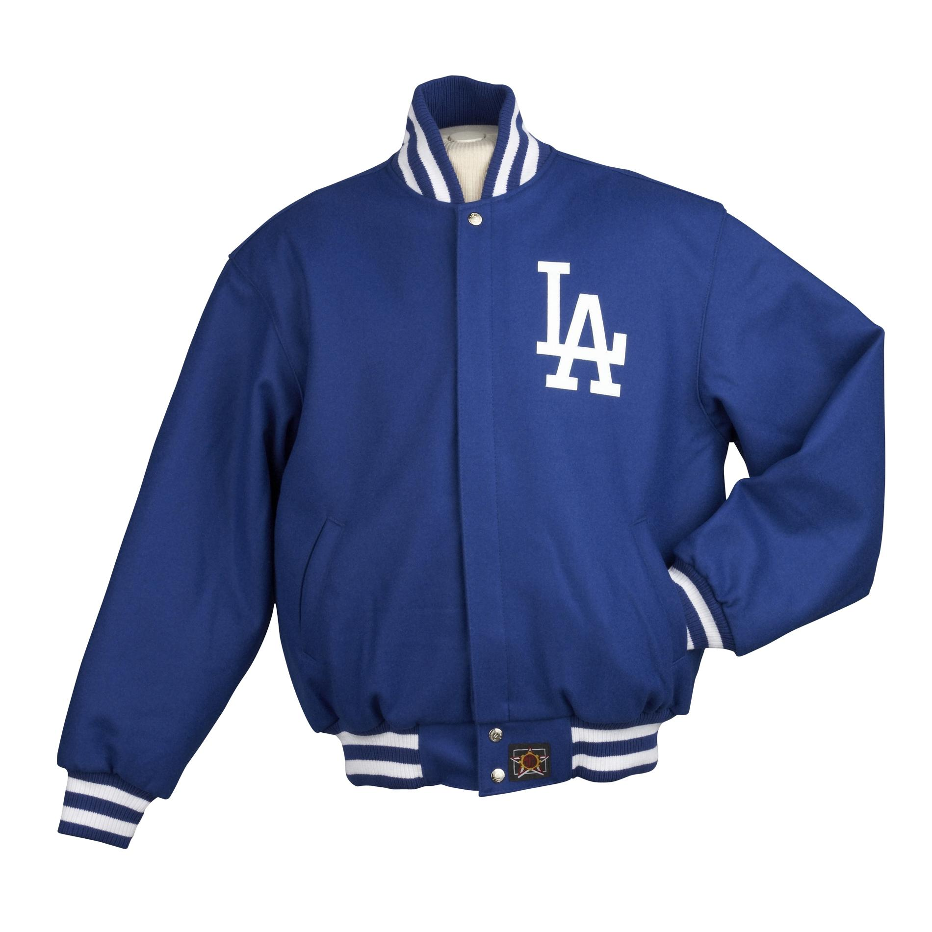 JH Designs Men's Los Angeles Dodgers Domestic Wool Jacket - Thumbnail 2