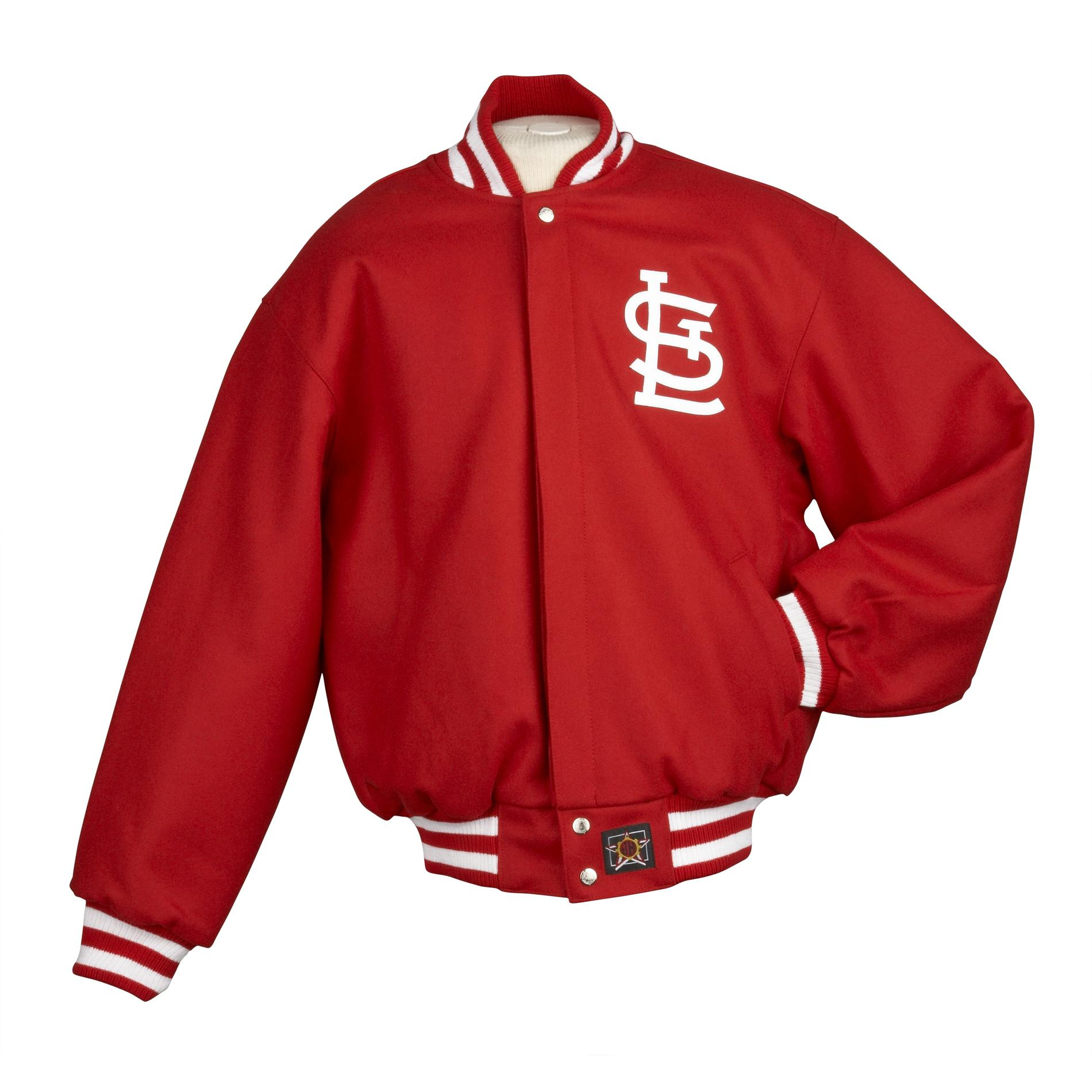 JH Designs Men's St. Louis Cardinals Domestic Wool Jacket - Thumbnail 2