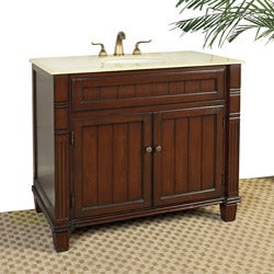 Marble Top 39-inch Single Sink Vanity