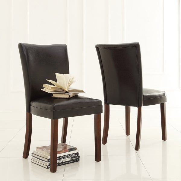 Shop TRIBECCA HOME Jeremy Dark Brown Faux Leather Dining