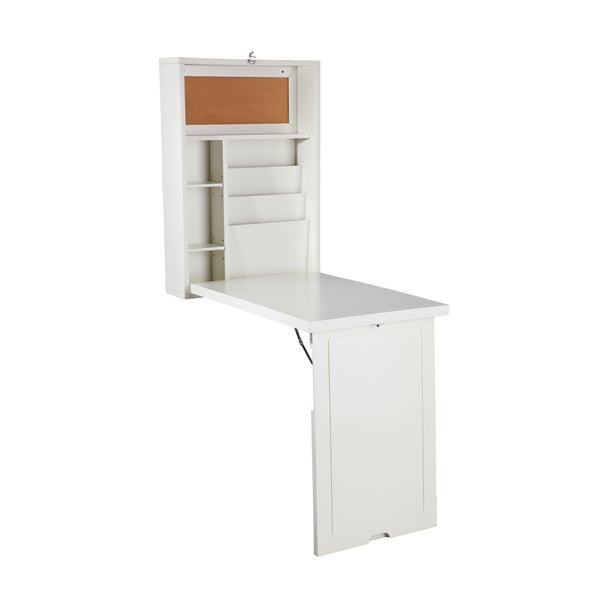 Harper Blvd Murphy Winter Antique White Fold Out Convertible Desk