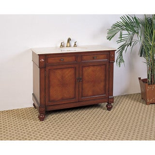 marble top 42inch single sink bathroom vanity