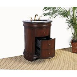 Shop Granite Top 28-inch Single Sink Vanity - Free ...