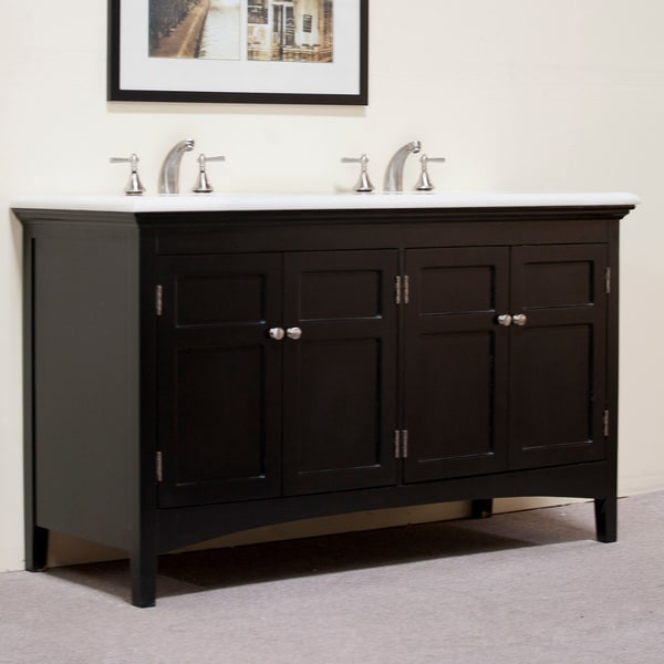 Granite Top 60 Inch Double Sink Vanity Free Shipping Today 13664712