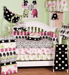 Girl's Cotton Tale Hottsie Dottsie 4-Piece Crib Bedding Set - Thumbnail 1