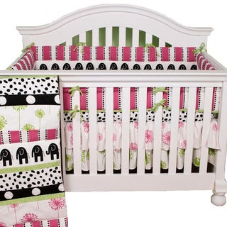 Girl's Cotton Tale Hottsie Dottsie 4-Piece Crib Bedding Set