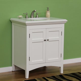Marble Top 30-inch Single Sink Vanity