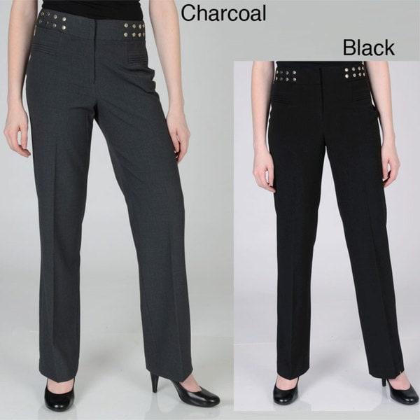 Larry Levine Women's Fashion Career Pants