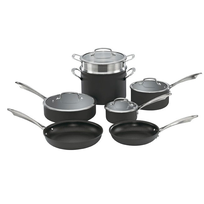 Cuisinart DSA-11 Hard Anodized 11-piece Cookware Set - Thumbnail 0