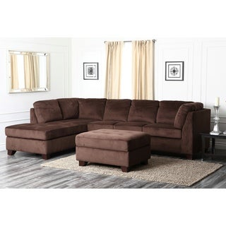 Abbyson Delano Sectional Sofa and Storage Ottoman Set