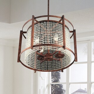The Gray Barn Calloway Hill Dark Brown 4-light Crystal Pendant