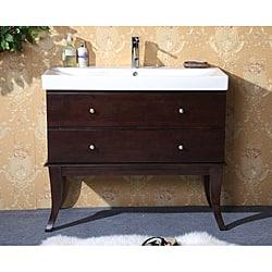 Shop Ceramic Top 40 inch Single sink Bathroom Vanity   Overstock