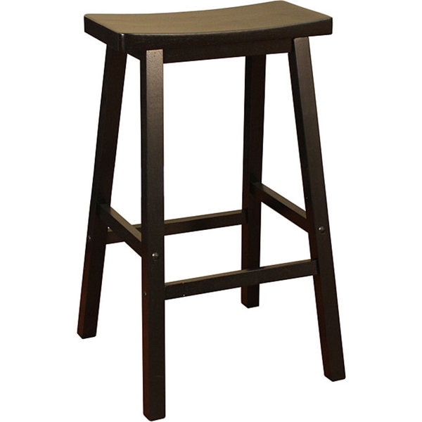 Sumatra Black 29-inch Bar Stool Saddle